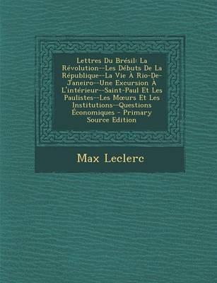 Lettres Du Bresil