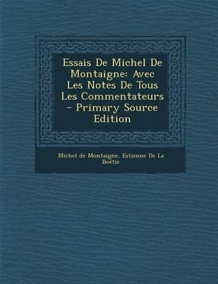 Essais de Michel de Montaigne