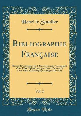 Bibliographie Française, Vol. 2