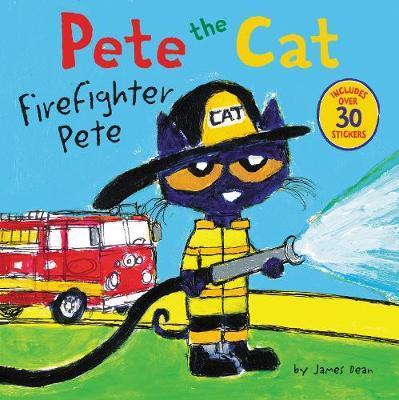 Pete the cat. Firefighter Pete