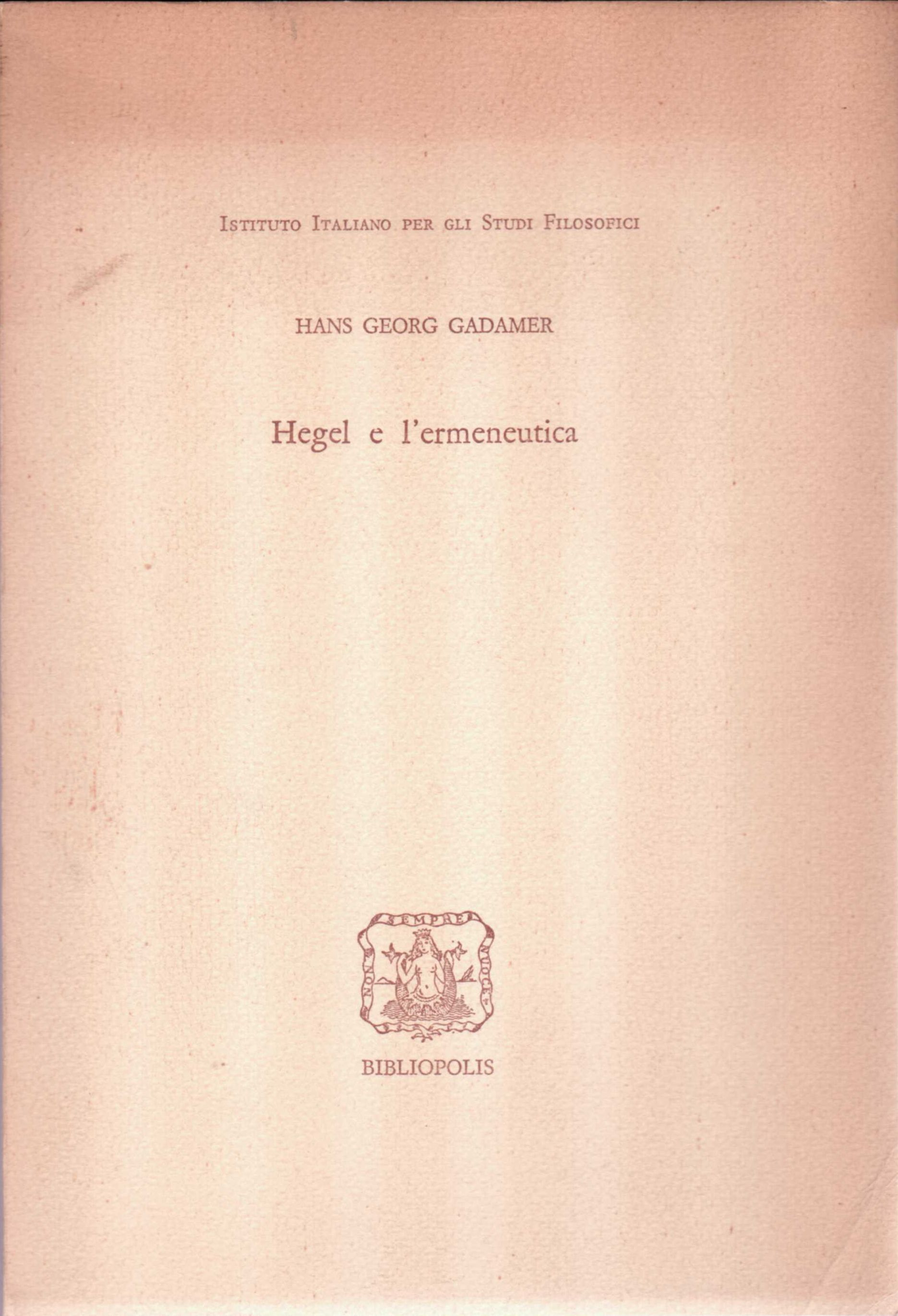 Hegel e l'ermeneutica
