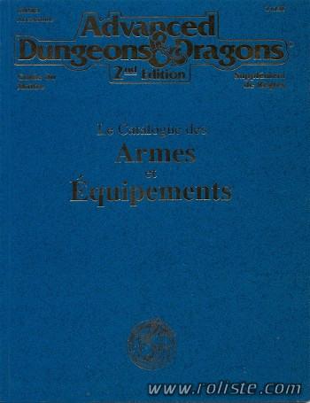 AD&D - 2ème édition Catalogue des Armes et Equipements
