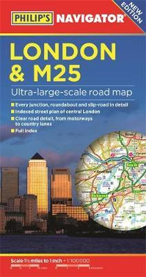 Philip's London and M25 Navigator Road Map
