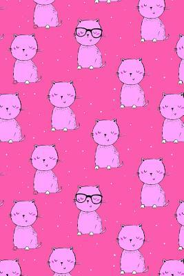 Bullet Journal Notebook For Cat Lovers Pink Cats On Dark Pink