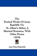 The Poetical Works of Anne Radcliffe V2
