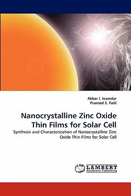 Nanocrystalline Zinc Oxide Thin Films for Solar Cell