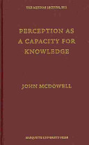 Perception as a capacity for knowledge