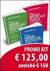 Kit Memo Manuali Civile, Penale e Amministrativo [3 volumi]