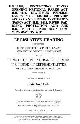 H.r. 3286, Protecting States Opening National Parks Act