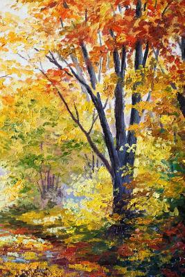 Autumn Woods Oil Painting Journal