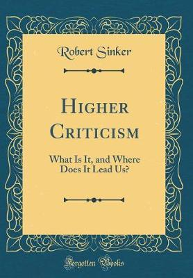 Higher Criticism