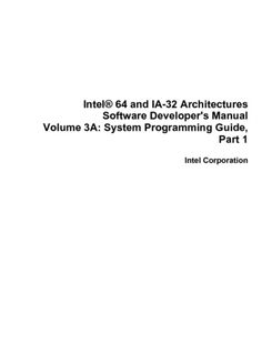 Intel® 64 and IA-32 Architectures Software Developer's Manual, Volume 3A