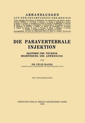 Die Paravertebrale Injektion