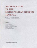 Ancient Egypt in the Metropolitan Museum Journal