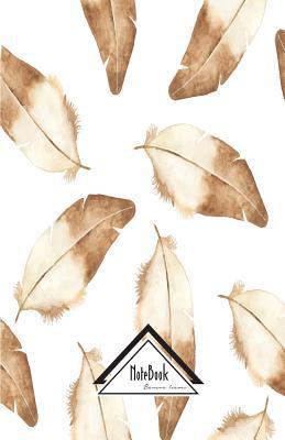 Brown Bird Feather Tribal Art Journal