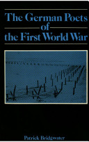 The German Poets of the First World War