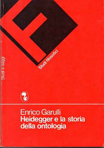 Heidegger e la storia della ontologia