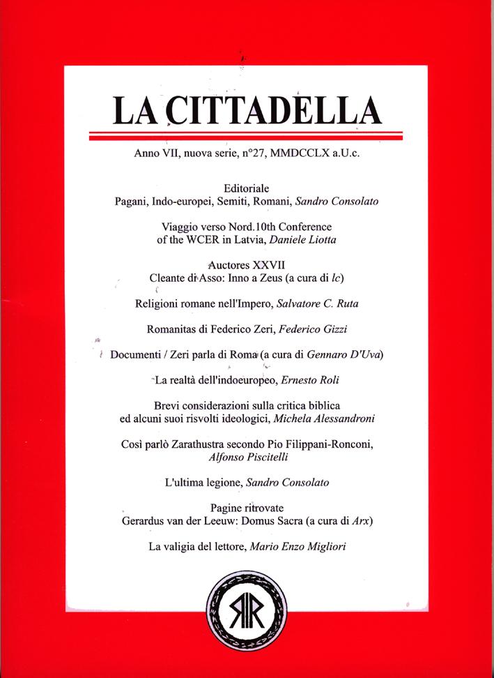 La Cittadella n°27, MMDCCLX a.U.C.