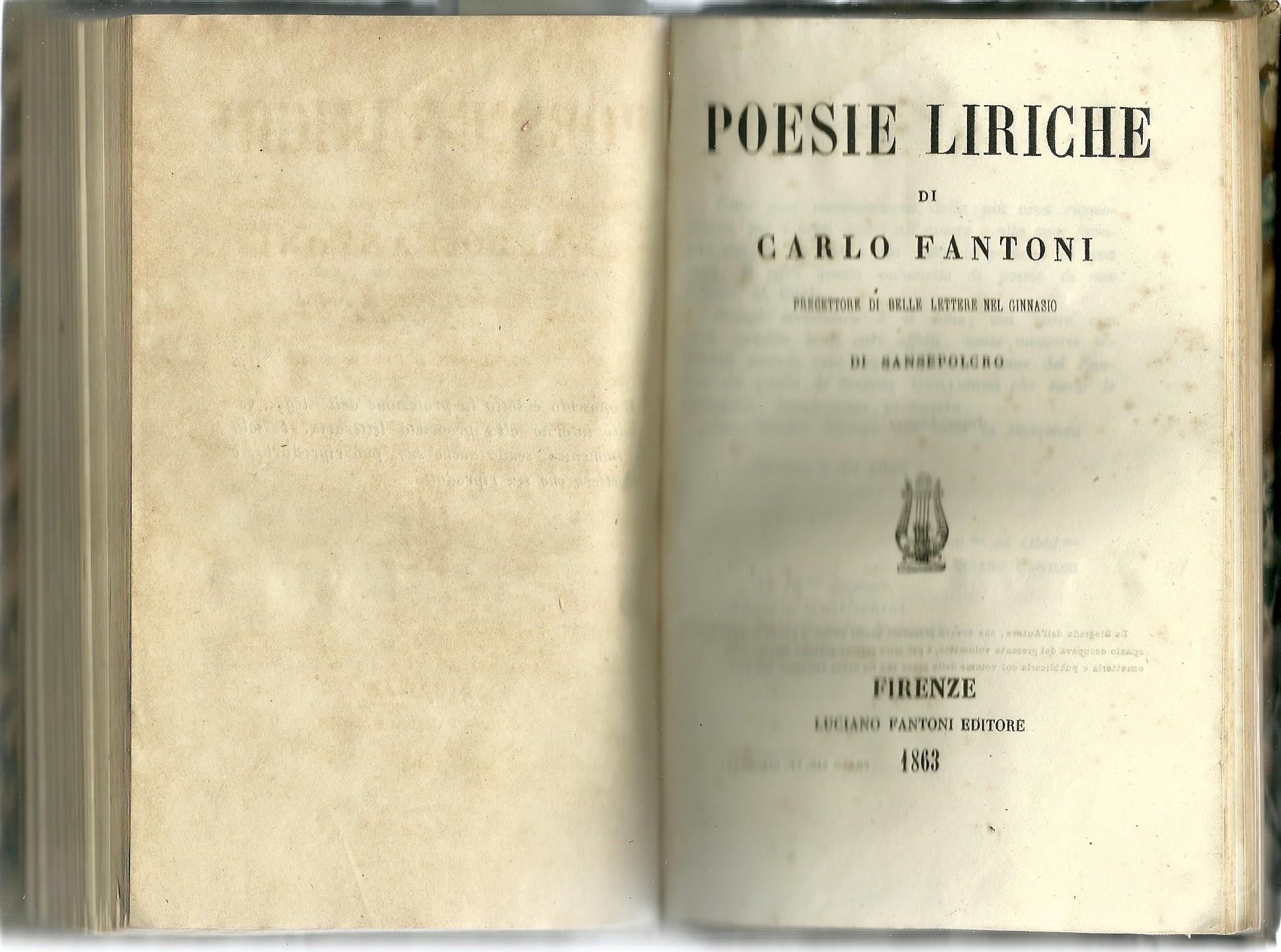 Poesie liriche di Carlo Fantoni