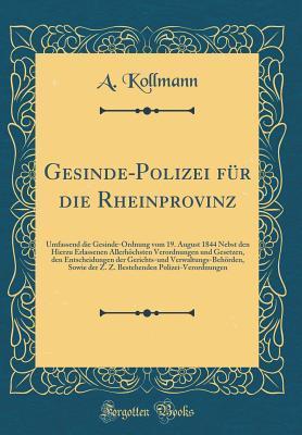 Gesinde-Polizei für die Rheinprovinz