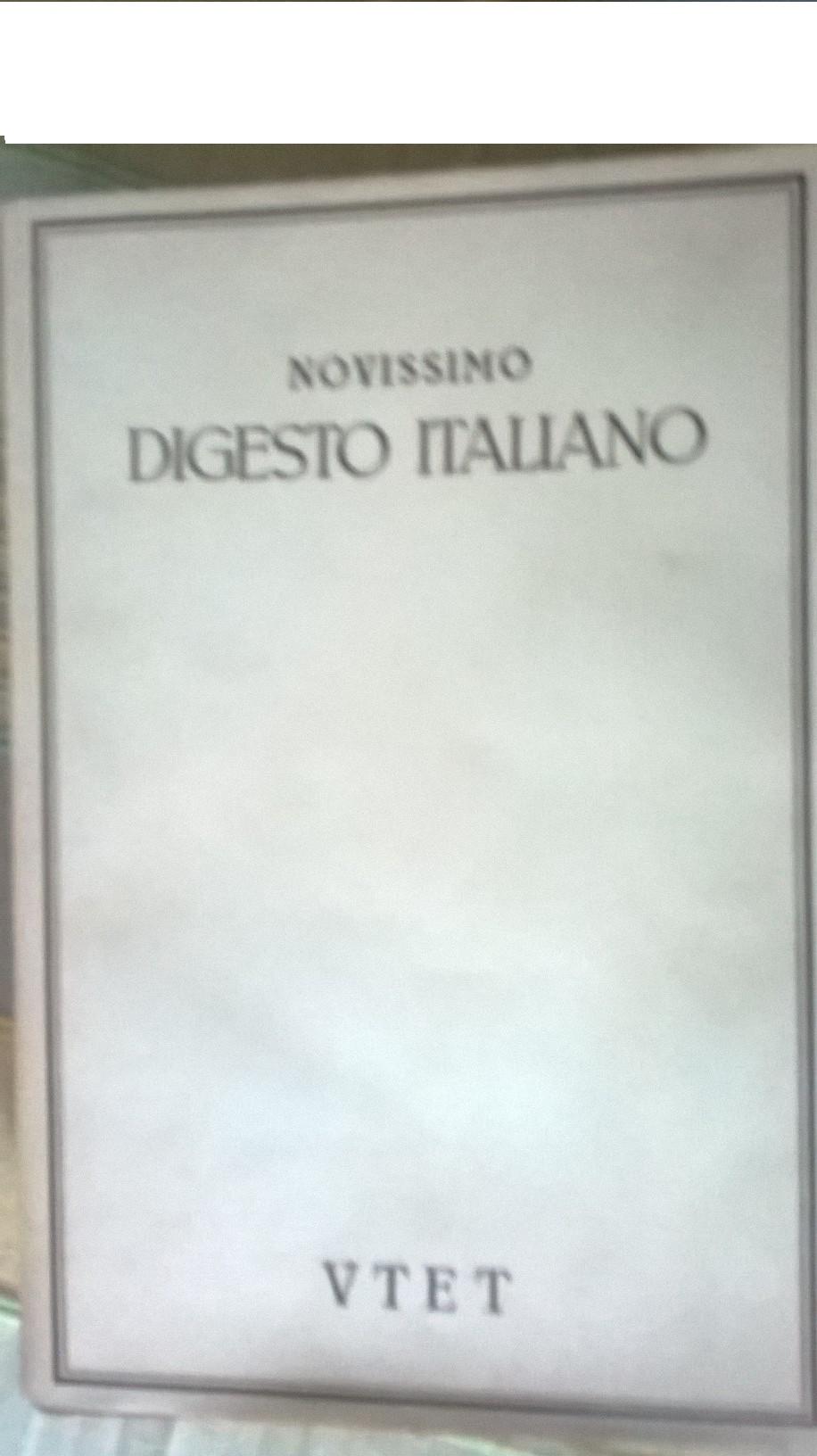 Novissimo digesto italiano - vol. XIII