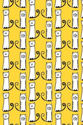 Bullet Journal Notebook For Cat Lovers Funny Tall Cats Pattern 8