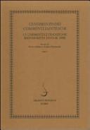 Censimento dei commenti danteschi. I commenti di tradizione manoscritta (fino al 1480)