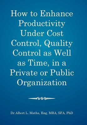 How to Enhance Productivity Under Cost Control, Quality Control As Well As Time, in a Private of Public Organization