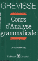 Cours d'analyse Grammaticale