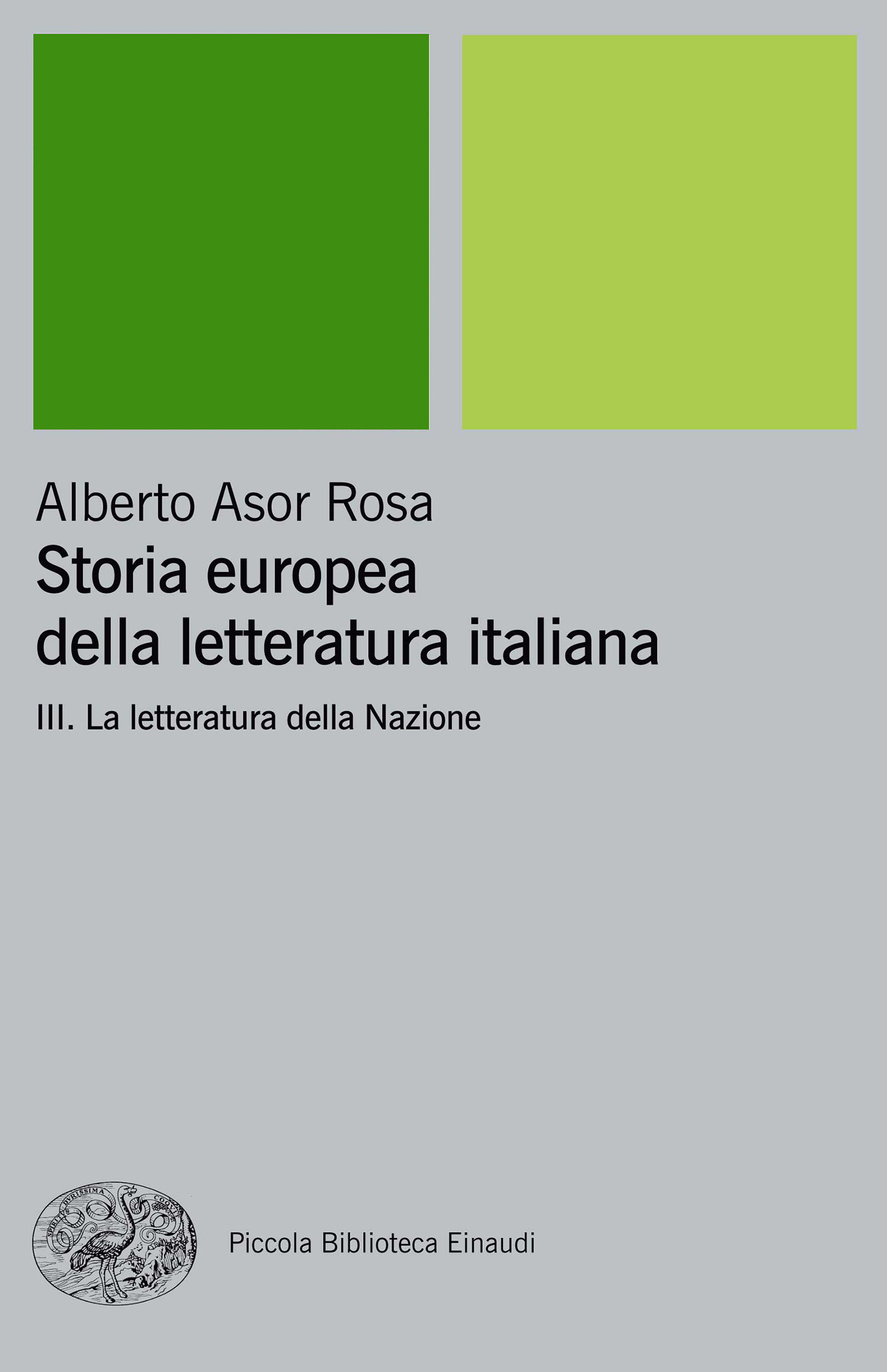 Storia europea della letteratura italiana vol. 3
