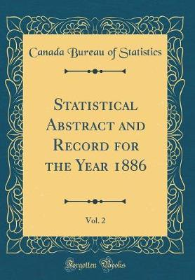 Statistical Abstract and Record for the Year 1886, Vol. 2 (Classic Reprint)