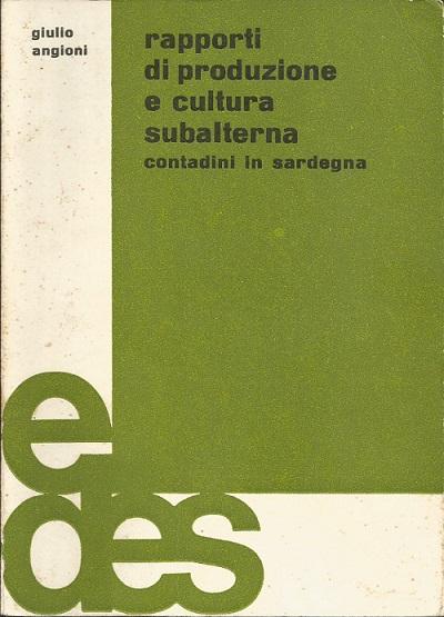 Rapporti di produzione e cultura subalterna