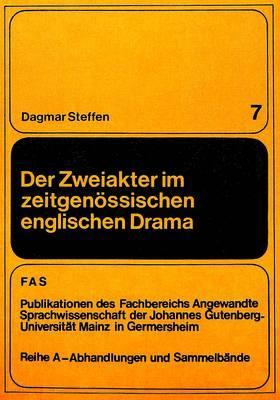 Der Zweiakter im zeitgenössischen englischen Drama