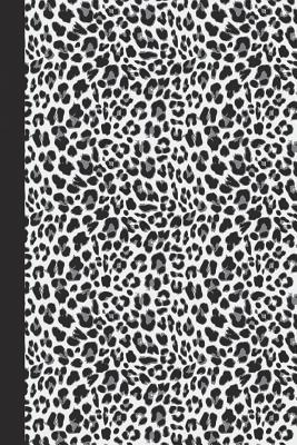Graph Journal Animal Print Black and White Leopard