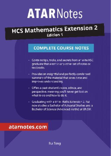 HSC Mathematics Extension 2 Complete Course Notes