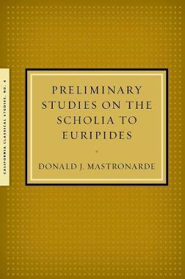 Preliminary Studies on the Scholia to Euripides