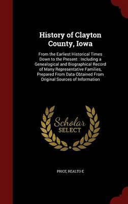 History of Clayton County, Iowa