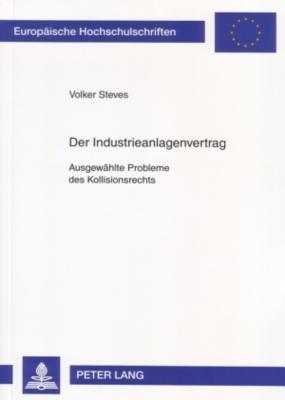 Der Industrieanlagenvertrag