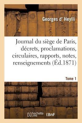 Journal Du Siege de Paris