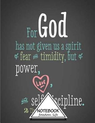 For God Has Not Given Us a Spirit of Fear and Timidity, but of Power Notebook