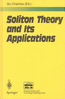 Soliton Theory and Its Applications