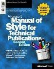 The Microsoft Manual of Style for Technical Publications