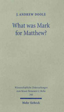 What was Mark for Matthew?