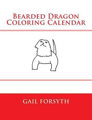 Bearded Dragon Coloring Calendar