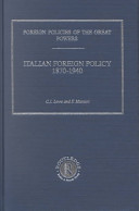 Italian Foreign Policy, 1870-1940