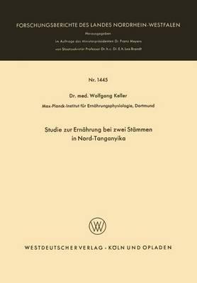 Studie Zur Ernährung Bei Zwei Stämmen in Nord-tanganyika