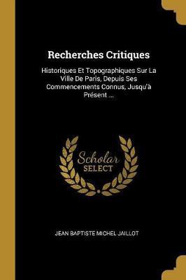 Recherches Critiques