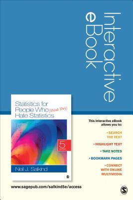 Statistics for People Who Think They Hate Statistics Interactive Ebook Access Code