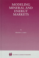 Modeling mineral and energy markets