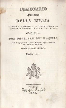 Dizionario portatile della Bibbia